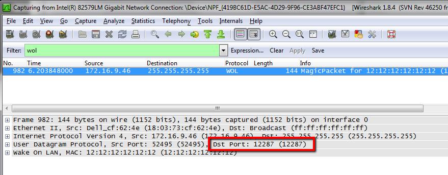 Finding WoL UDP Port